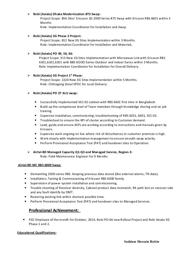 Noc Engineer Sample Resume cvfreepro
