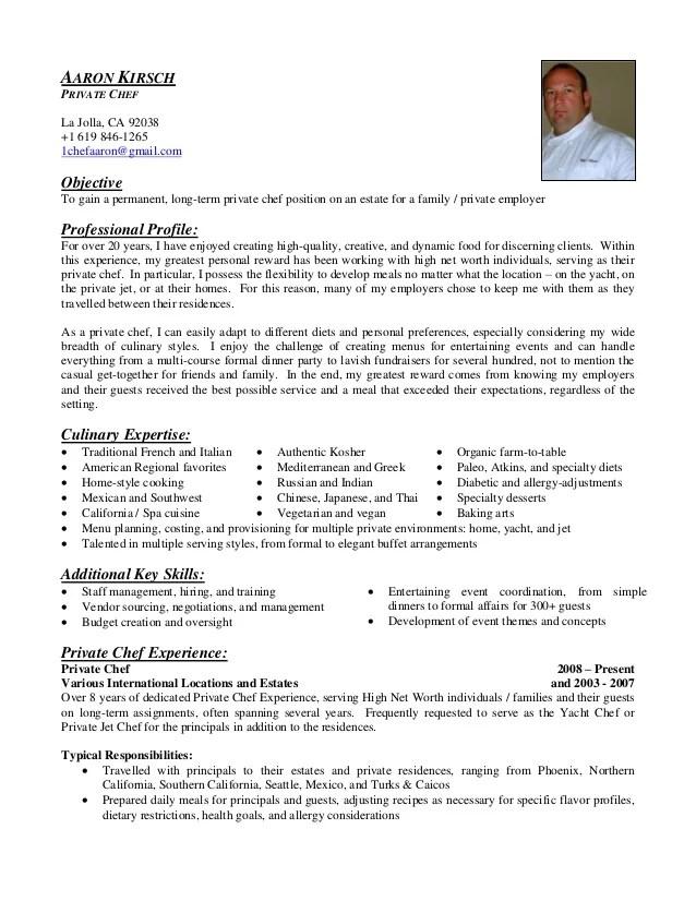 chef resume - Vatozatozdevelopment - travelling chef sample resume