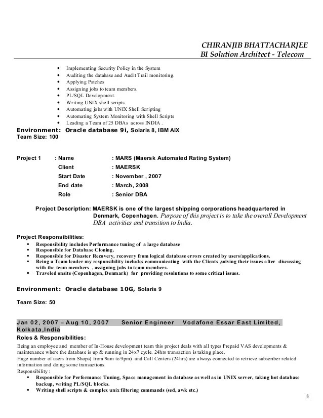 system data recovery resume samples