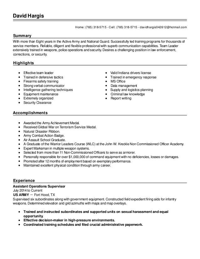 army infantry resume - Goalgoodwinmetals