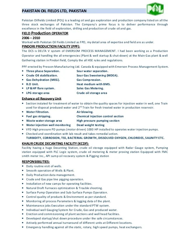 Resume Objectives For Oil And Gas Industry Professional Resume Cv