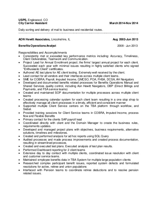 mail carrier job resumes - Onwebioinnovate - mail carrier resume