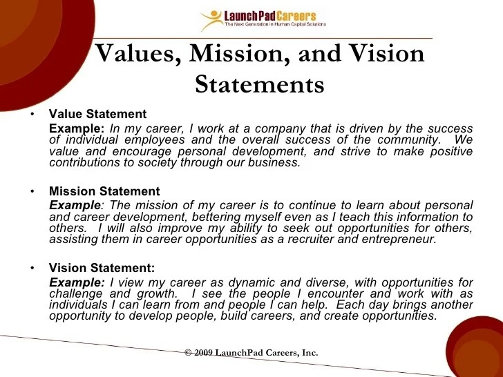 personal value statement - Ozilalmanoof - personal value statement examples