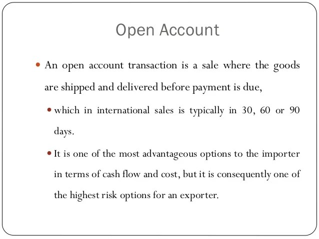 Letter Of Credit Wikipedia Methods Of Payment In International Trade