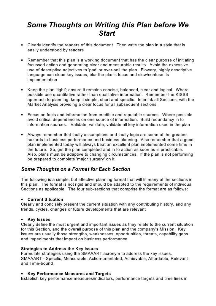 Strategic Plan Template For Business 5 Comprehensive Strategic Business Plan Template