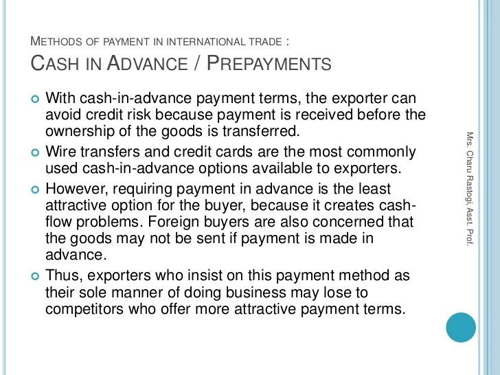 Full And Final Payment Letter Format Sample Letters 5 Methods Of Payment In International Tradeexport And