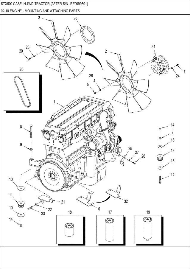 case 863 engine diagram