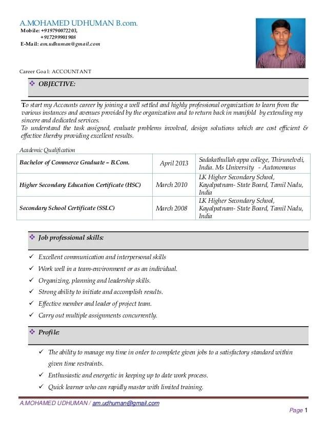 resume samples for bcom graduates professional resumes example