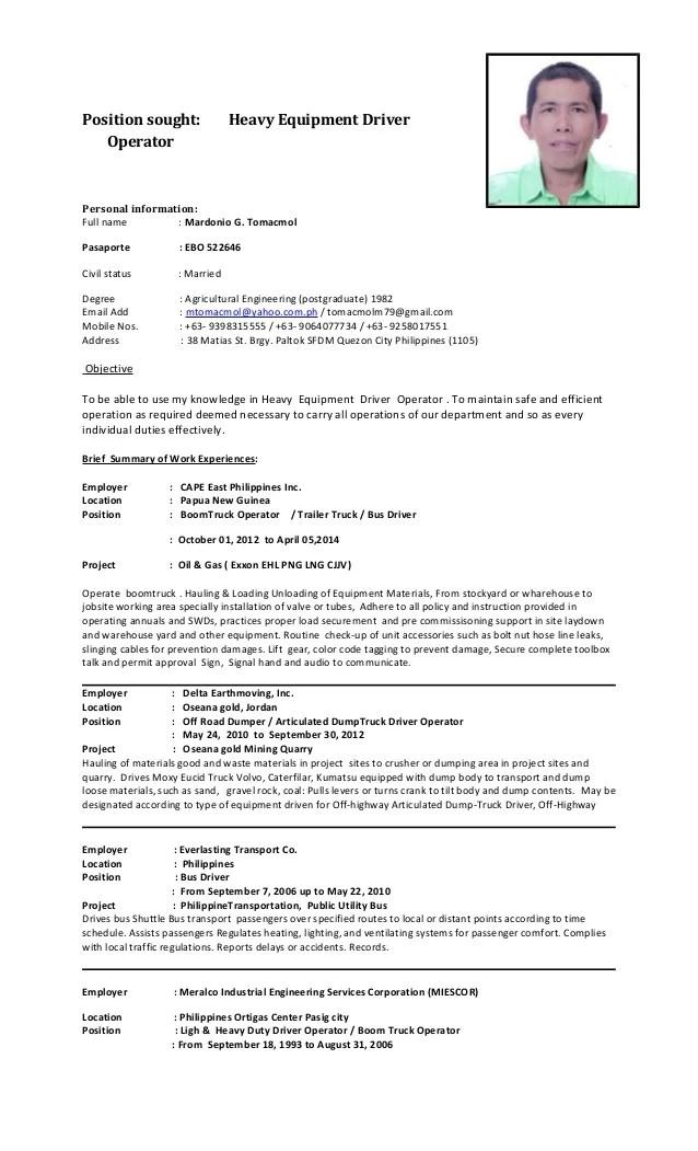 driver job resume - Pinarkubkireklamowe