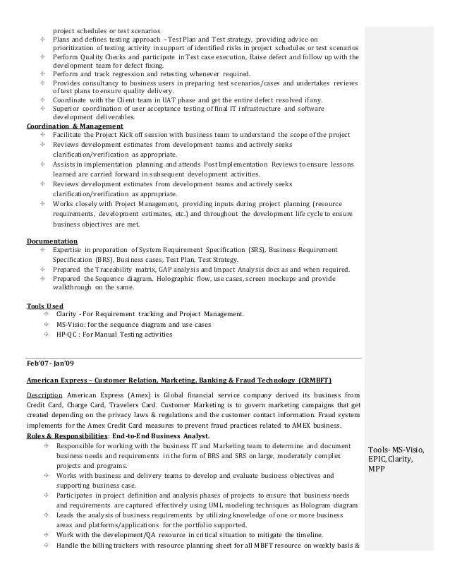 test analyst cv sample - Mavij-plus