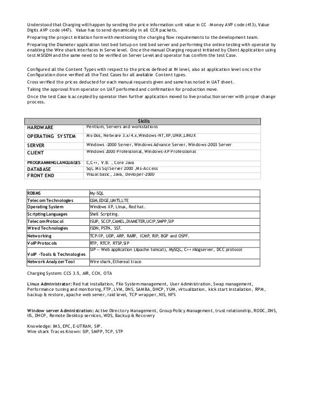 unix administrator resumes - Minimfagency