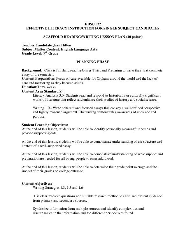 532 Scaffold Lesson Plan