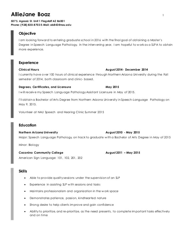 slpa resume examples