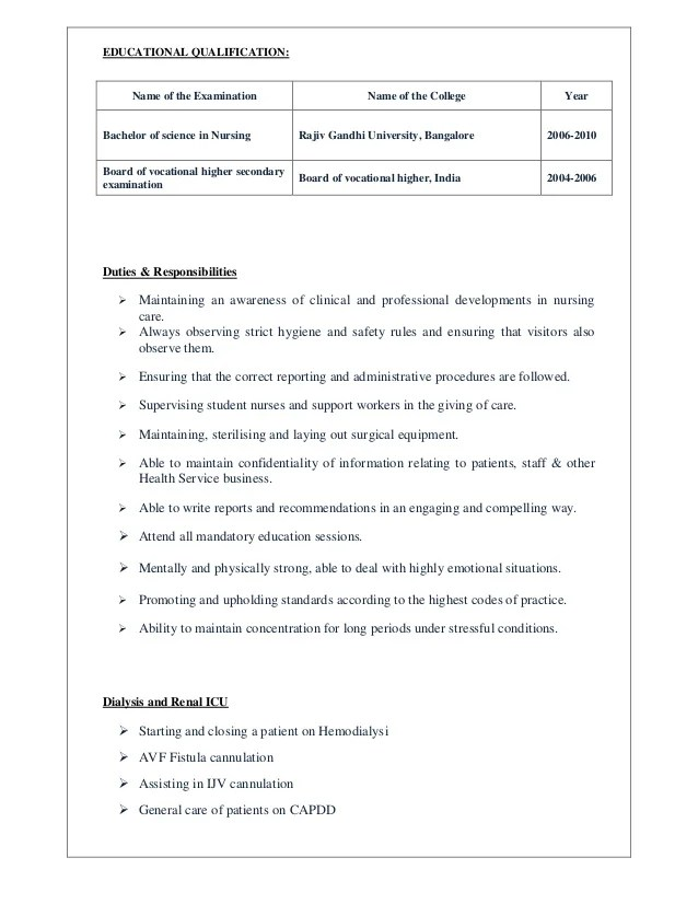 dialysis nurse job description sample - Romeolandinez - sample dialysis nurse resume