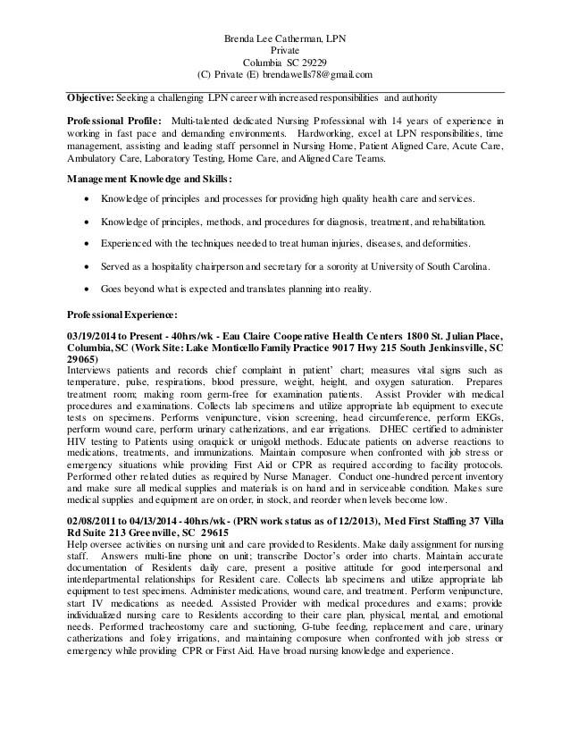 lpn skills for resume - Apmayssconstruction
