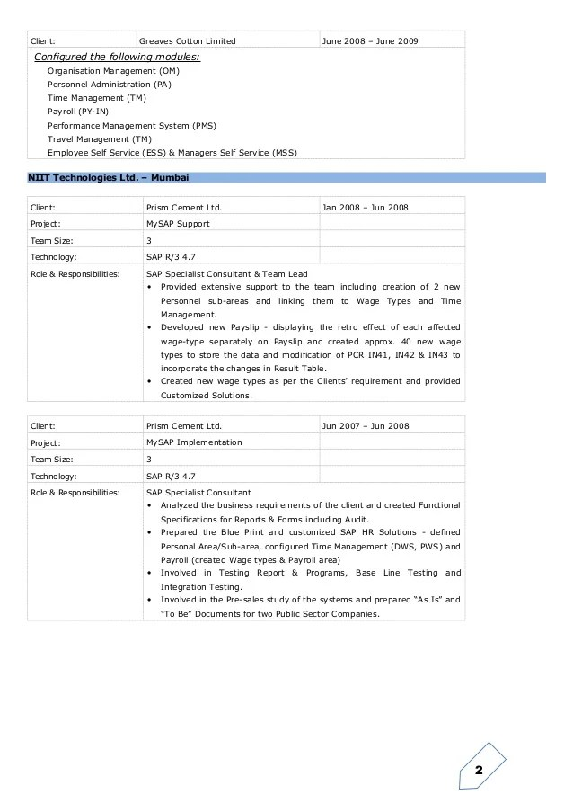 stunning sap hr testing resume ideas simple resume office