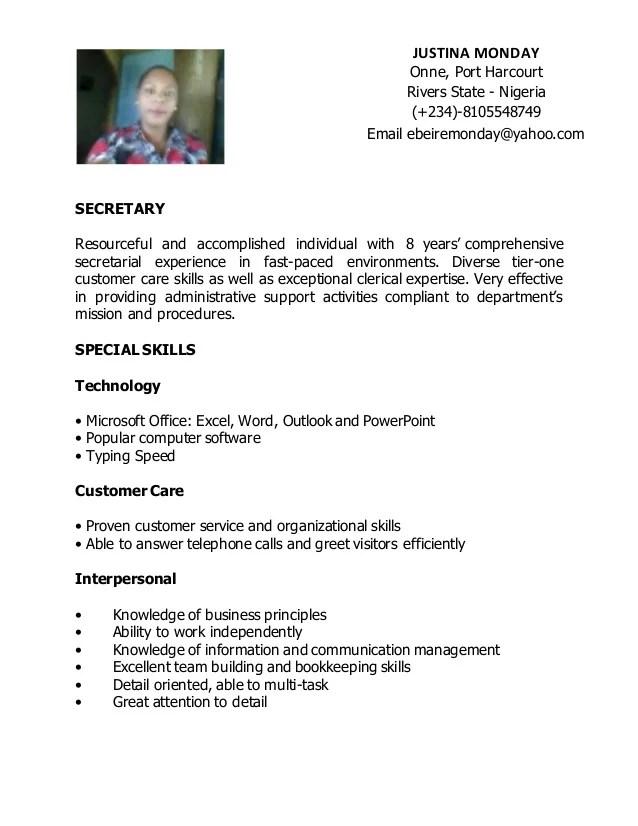 Sample Customer Service Resume And Tips Secretary Resume