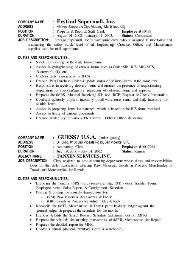 shipping clerk job description - Josemulinohouse