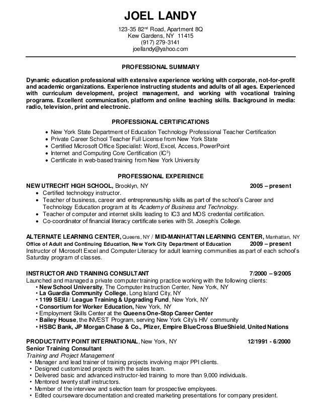 Department Of Education New York Teacher Certification Ltt