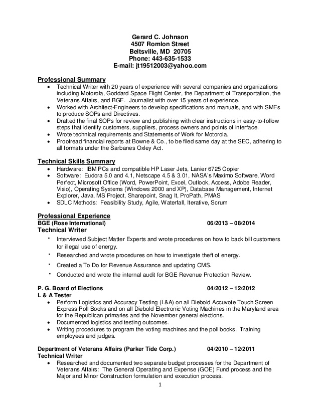 Agile Scrum Tester Resume Black Box Integration Regression Itil Resume  Agile Resume