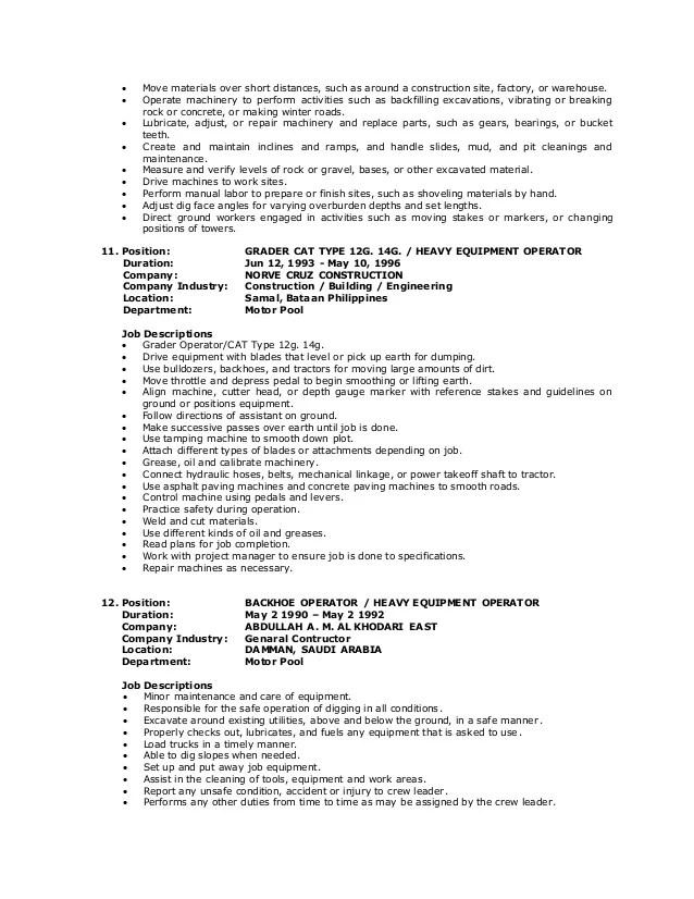 crane operator resume crane operator resume cover letter