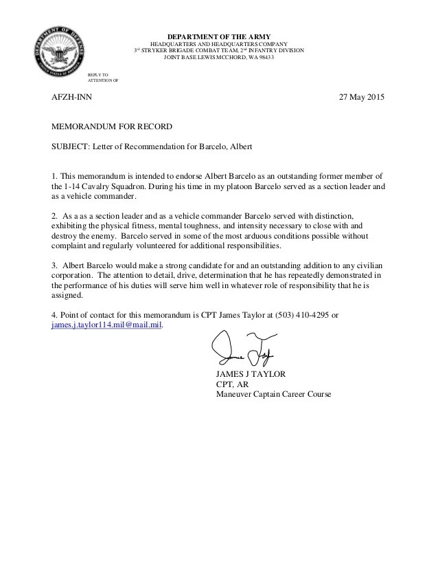 commander letter of recommendation - Ozilalmanoof