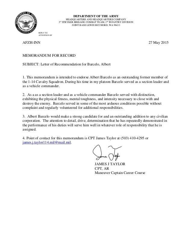 letter of recommendation memorandum - Mucotadkanews