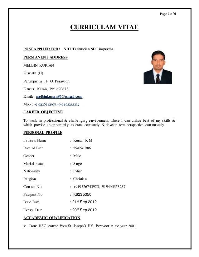 ndt technician resume sample radiovkm