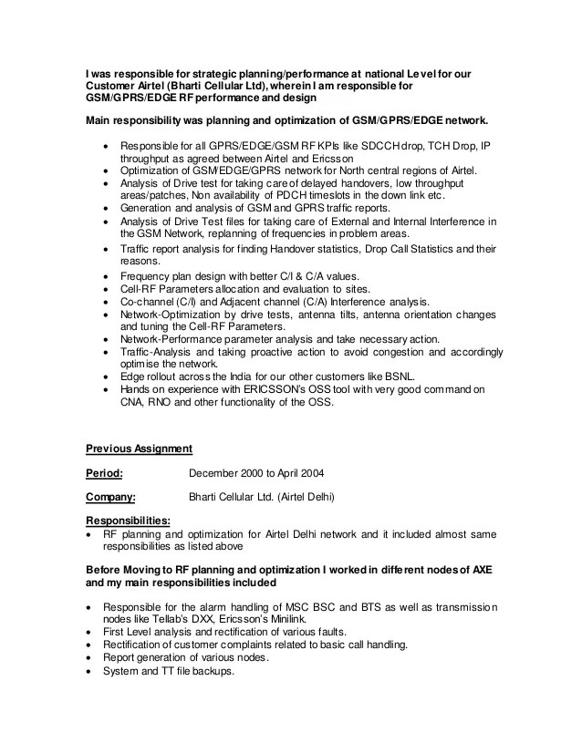 responsibility resume - Jolivibramusic