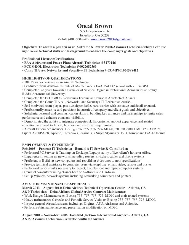 avionics mechanic cover letter - Onwebioinnovate - gse mechanic sample resume