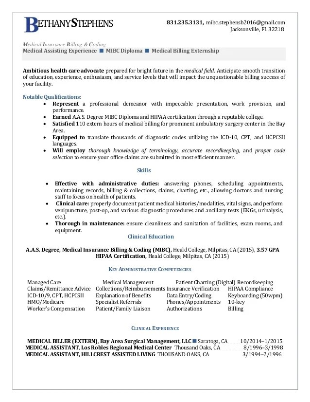 Legal Billing Specialist Resume Sample | Business Plan Uk Pdf