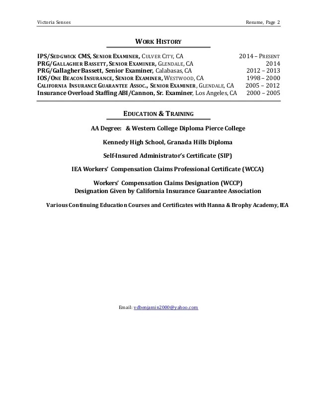 claims examiner resume - Goalgoodwinmetals - allstate insurance adjuster sample resume