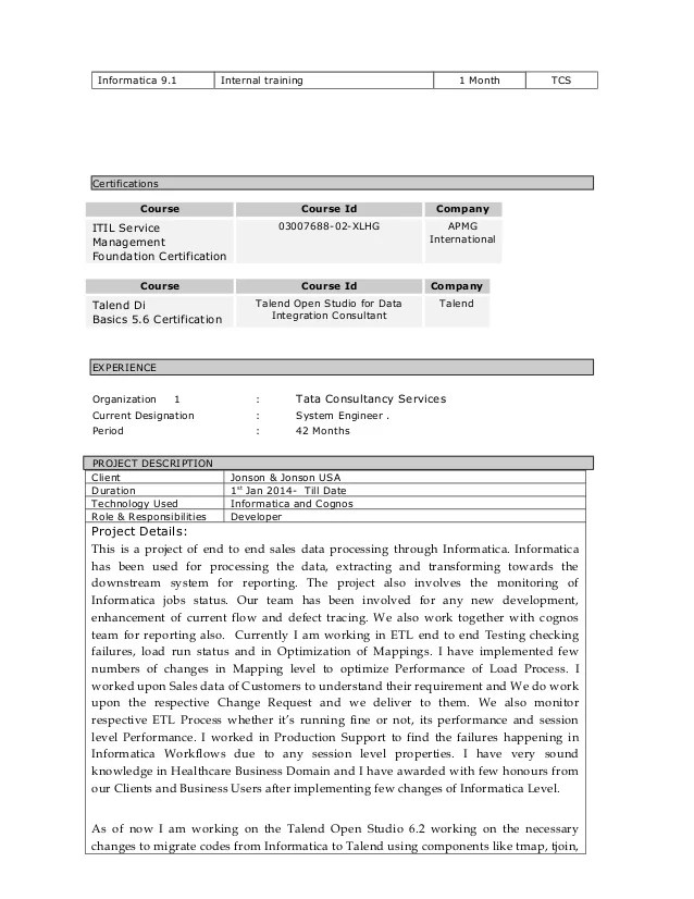 sample resume for 6 months experience in java in usa