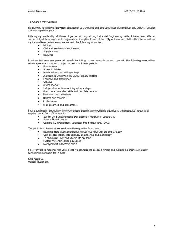 Civil Engineering Volunteer Cover Letter - sarahepps - - civil engineering volunteer sample resume