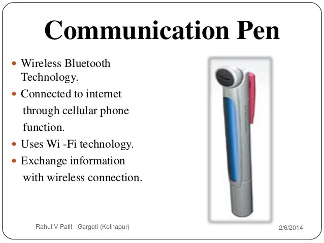 explain block diagram of 5 pen pc technology