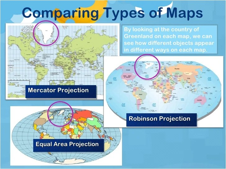 Comparing Types of Maps Triton World
