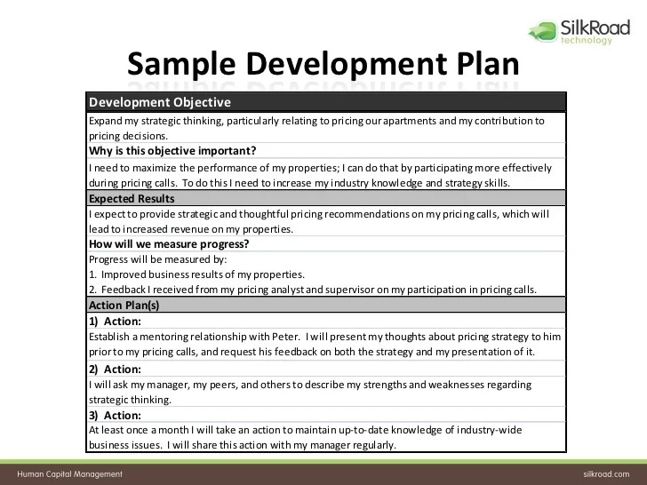 Employee Development Plan Figure Career Development Plan Chapter