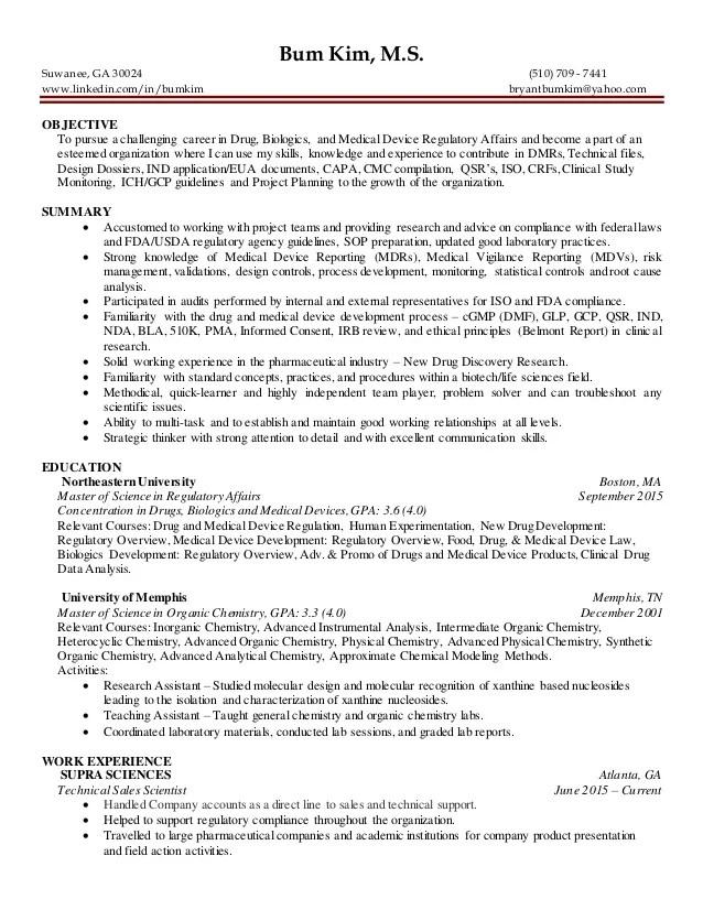regulatory affairs resume - Ozilalmanoof - regulatory affairs resume sample