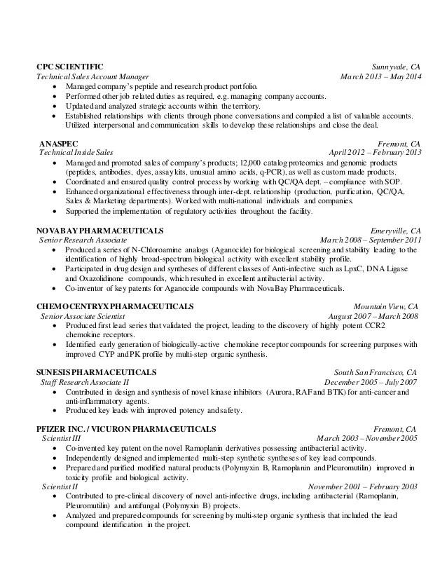 pharmaceutical regulatory affairs resume sample - Yelomdigitalsite