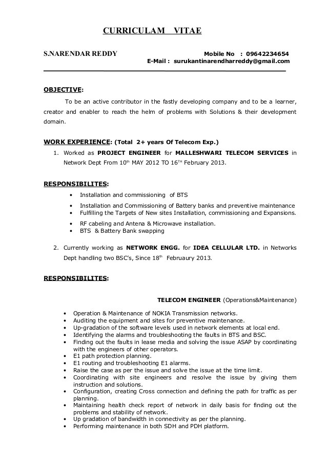 entry level network engineer resume - Baskanidai - Resume Sample For Network Engineer