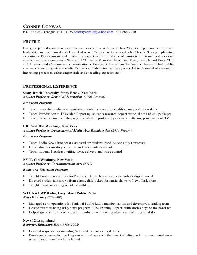 broadcasting news director resume - Nevadlugopisyreklamowe