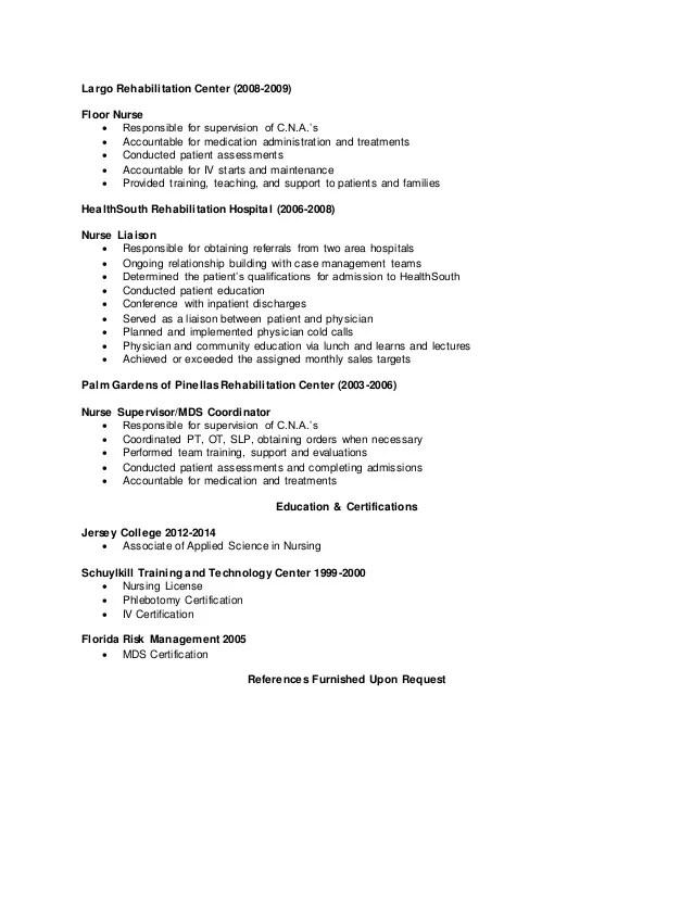 rehab nurse resumes - Goalgoodwinmetals - mds nurse sample resume