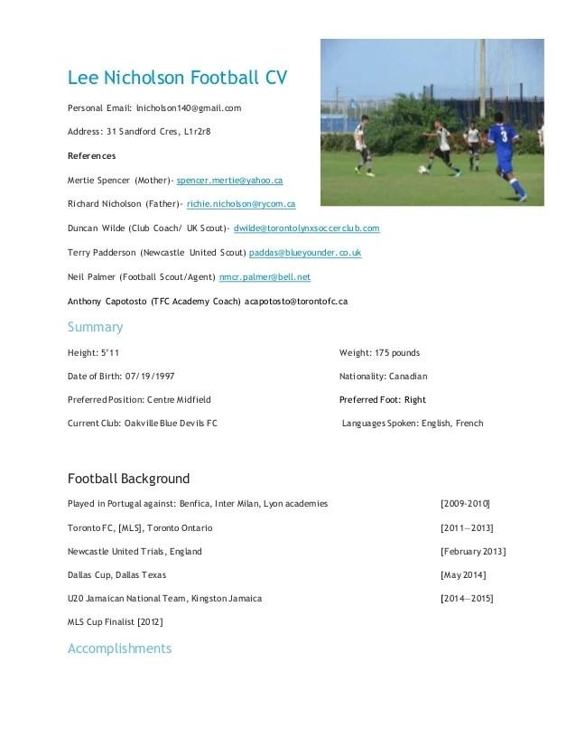 Write A Professional Cv Uks Number 1 Professional Cv Writing Services Cv Lizard Lee Nicholson Football Cv