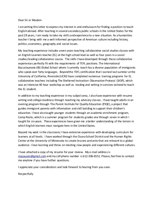 Dear Sirmadam Vs Dear Sirs Wordreference Forums Tefl Cover Letter