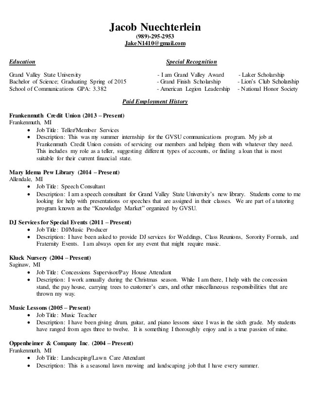 complete resumes sample - Goalgoodwinmetals - concession worker sample resume