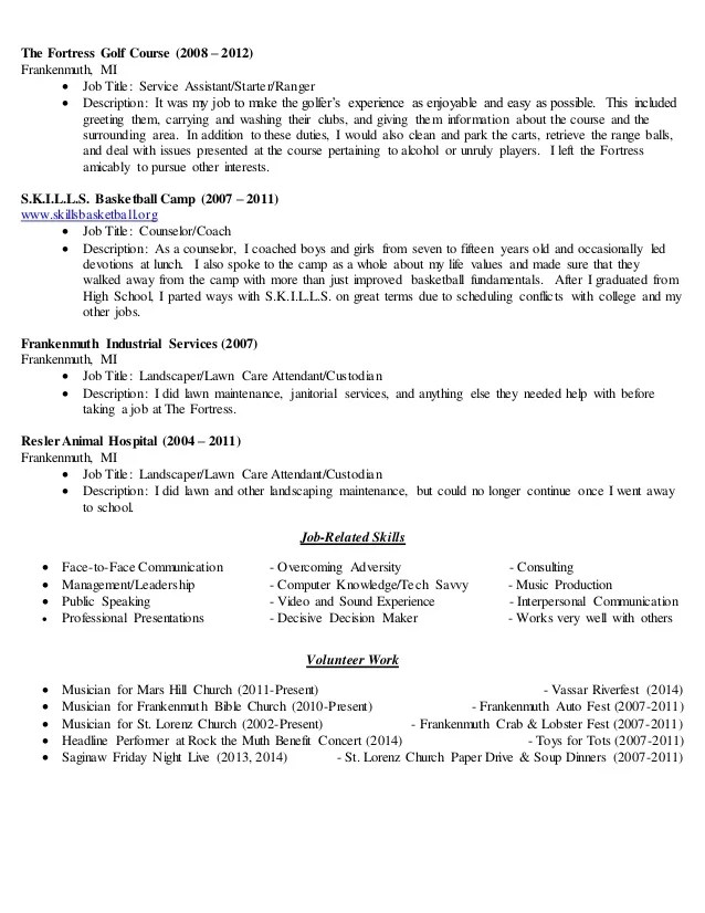 golf resume template \u2013 brianhansme