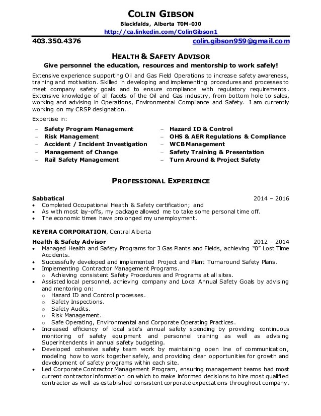 environmental health and safety cover letter - Goalgoodwinmetals
