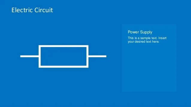 electric circuit symbols element set for powerpoint