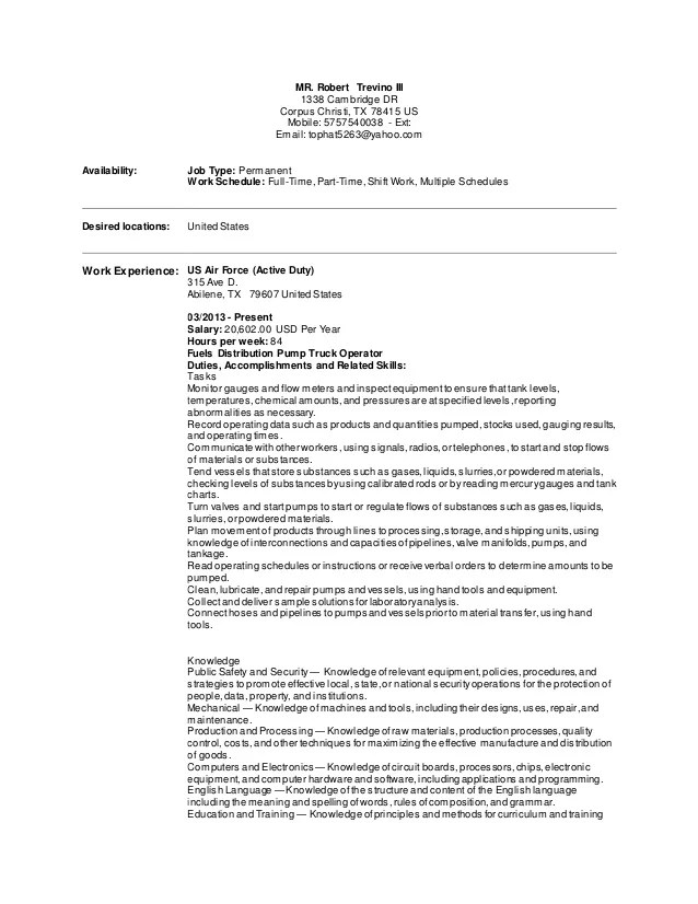 air force first sergeant resume examples