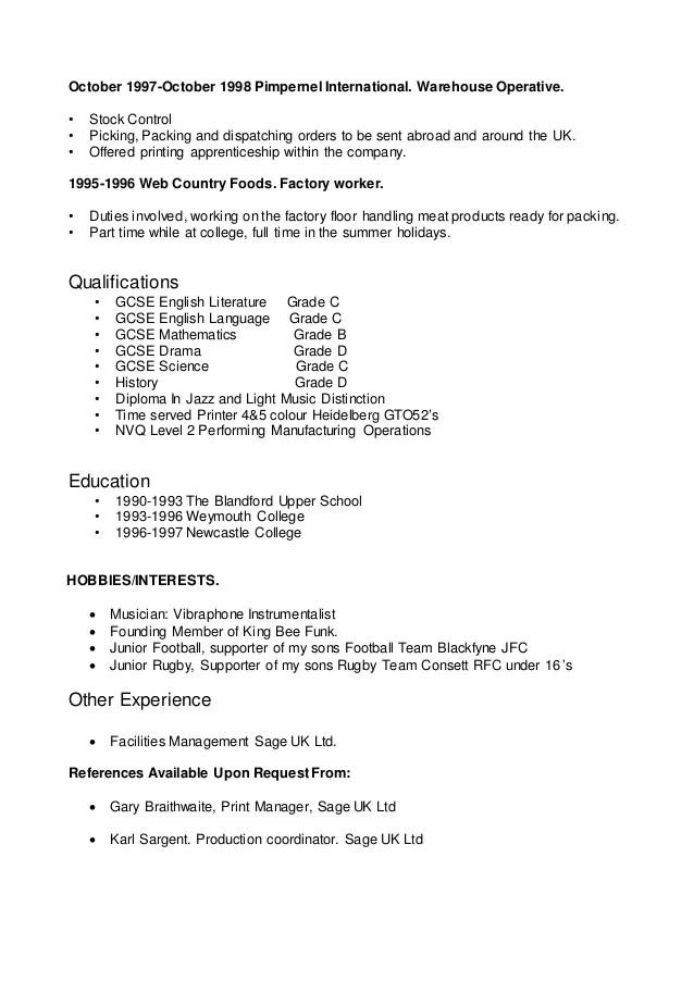 printing cv - Klisethegreaterchurch - printing company general manager resume